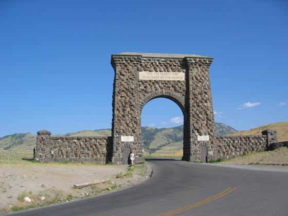 Yellowstone North Entrance Gardiner Montana